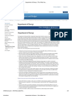Department of Energy FY 2012 Budget Fact Sheet