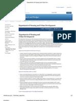 Department of Housing and Urban Development  FY 2012 Budget Fact Sheet