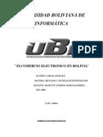 Comercio Electronico en Bolivia