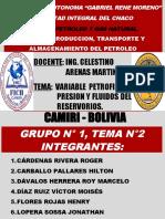 TEMA Nº 2 VARIABLE PETROFISICA, PRESION Y FLUIDOS DEL RESERVORIO.ppsx