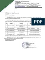 1118-025. Surat pemberitahuan kegiatan maulid nabi, Bulan bahasa, dan libur nasional kelas XII
