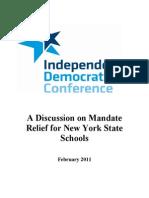 IDC School Mandate Relief Report