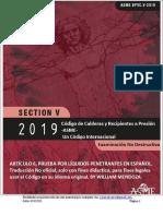 CÓDIGO ASME SECCIÓN V ARTICULO 6, en español - 2019