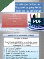 Análisis e Interpretación de Estados Financieros para la toma de decisiones en la empresa UAPA 2019 (A)