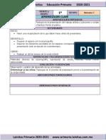Noviembre - 1er Grado Artes (2020-2021)