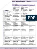 Noviembre - 1er Grado Dosificación (2020-2021)