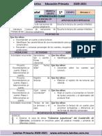Noviembre - 1er Grado Español (2020-2021)