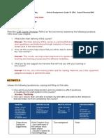 LDM LIST OF ACTIVITIES