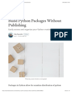 Build Python Packages Without Publishing - Towards Data Science