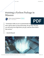 Building a Python Package in Minutes - Analytics Vidhya - Medium