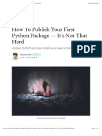 How to Publish Your First Python Package — It's Not That Hard
