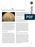 NASA Facts Mars Exploration Radioisotope Power and Heating for Mars Surface Exploration