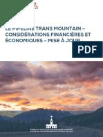 Trans Mountain - Considérations financières et économiques 08-12-20