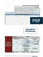 Procedimiento de Control de Proyectos GTpr006