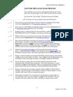 Denver Area Council Eagle Checklist