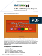 Boylestad_ MCQ in BJT and FET Frequency Response