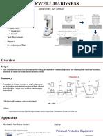 ASTM D 785 - Rockwell Hardness Testing