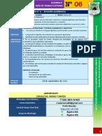 Guía de Trabajo ALGEBRA 8°- N° 6