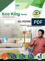 Daikin Eco King Wall Mounted Brochure