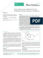 Development of Spectrophotometric Methods for the Determination of Nalbuphine Hydrochloride in Different Forms