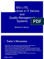 Iso And Itil Best Practices In It Services And Quality Management