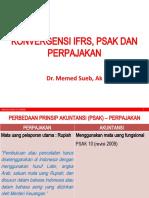 Konvergensi IFRS SAK UU PAJAK