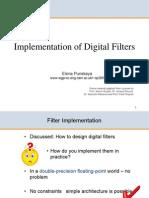 3F3 7 Implementation of Digital Filters