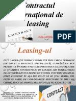 Contractul internațional de leasing