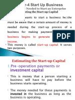 4.1 Start-Up New Business