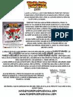 Nota de prensa de Pedro Pico y Pico Vena