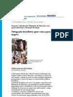 Folha de S.Paulo - Conferência contra racismo