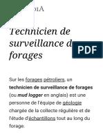 Technicien de surveillance de forages — Wikipédia
