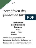 Technicien des fluides de forage — Wikipédia