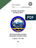 TC12B-T44A multi-engine flight training instruction
