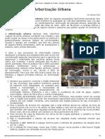 Arborização Urbana - Vegetação nas Cidades - Ecologia e Meio Ambiente - InfoEscola