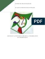 Projet d'uniformisation des gestes et attitudes liturgiques (Enregistré automatiquement) (Enregistré automatiquement)
