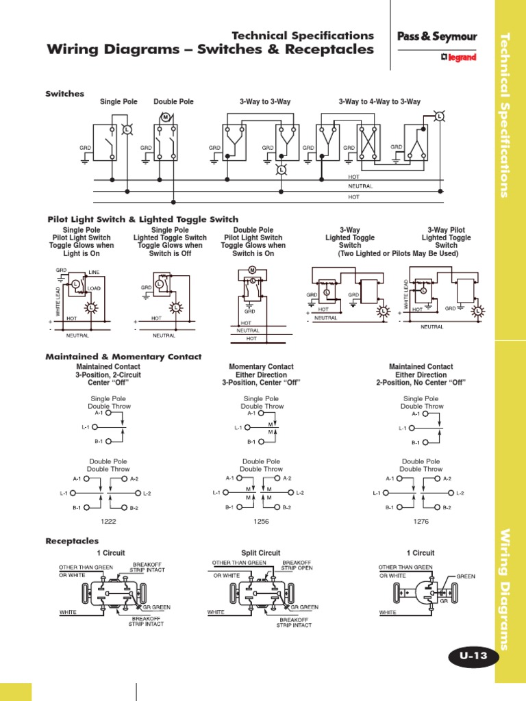 Quick Wiring Diagrams – Switches & Receptacles | Switch | Electrical on