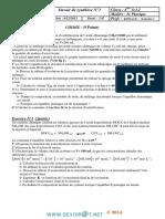 Devoir de Synthèse N°1 Avec correction- Sciences physiques - Bac Sciences exp (2013-2014) Mr kallel chiheb.pdf