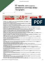 sap graph ABAP reports (programs)