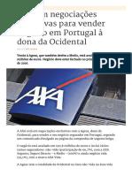 AXA em negociações exclusivas para vender negócio em Portugal à dona da Ocidental _ Económico