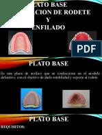 PLATO BASE ,ORIENTACION DE RODETE  Y  ENFILADO
