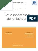 Les aspects fiscaux de la liquidation