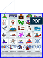 Winter Matching Activity Picture Dictionaries 84066
