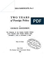 G.v. Chicherin, Two Years of Soviet Russia's Foreign Policy, From November 7, 1917, To November 7, 1919