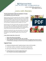 Vegetarian Flavors with Alamelu press release