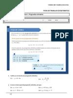 Ficha6 - Progressão aritmética