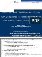 Americans with Disabilities Act Compliance for Financial Institutions
