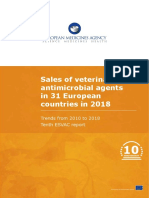 Sales Veterinary Antimicrobial Agents 31 European Countries 2018 Trends 2010 2018 Tenth Esvac Report En