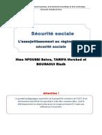 S-SOCIALE-CHAP-2-ASSUJESTISSEMENT AU REGIEME DE LA SECURITE SOCIALE