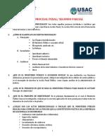 CUESTIONARIO PROCESAL PENAL SEGUNDO PARCIAL